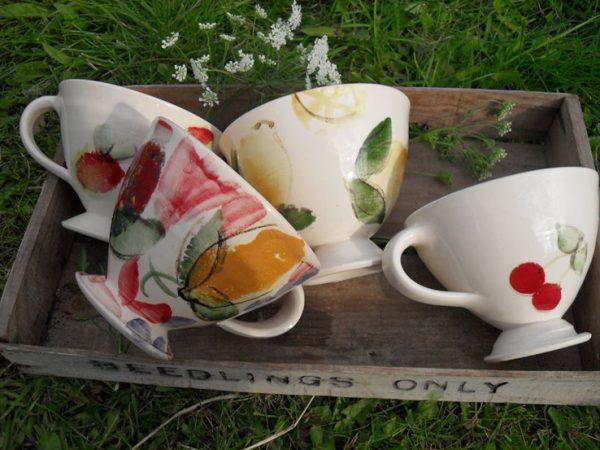 Cups: Apple, Plum, Lemon & Cherry