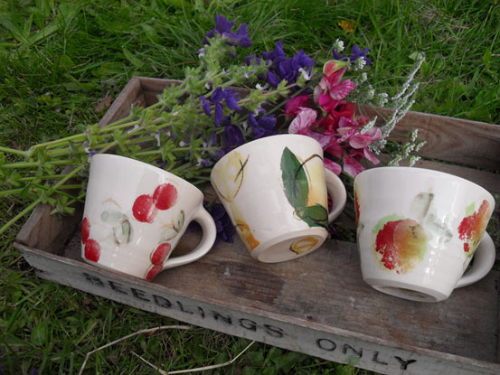 Mugs: Cherry, Lemon & Apple