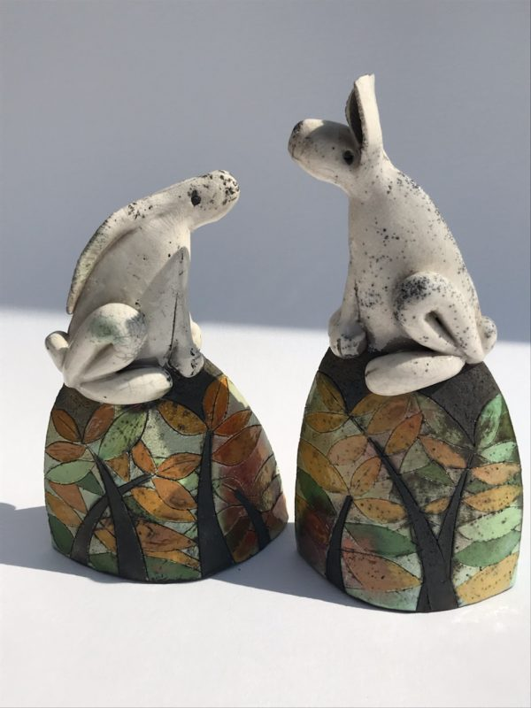 2 Hares on Hills