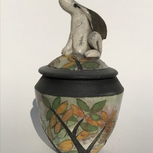 Lidded Pot with Hare on Lid