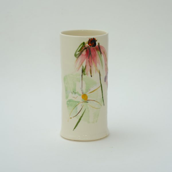 Tall Echinacea Vase